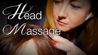 Binaural ASMR Head Massage & Hair Play | Synthetic & Real Hair Sounds