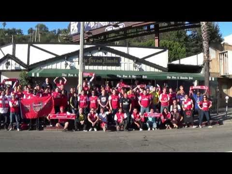 L A  Gooners @ Fox and Hound Group Picture Arsenal 1 Aston Villa 3