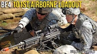 Battlefield 4 (PS4) - US 101st Airborne Loadout - M240B + M9 (BF4 Gameplay)