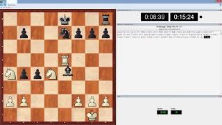 Быстрые шахматы с компьютером в живую 15м+10с партия 1(Играю рапид (быстрые шахматы) с компьютером оболочка Deep Fritz 14 движок Houdini 4 с дальнейшим анализом партий...., 2015-01-24T20:49:25.000Z)