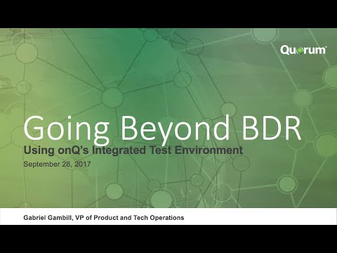 Using onQ's Integrated Test Environment