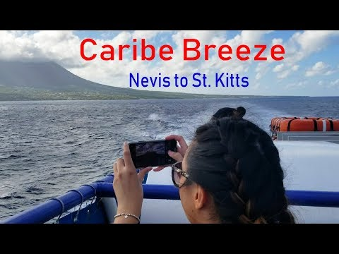 Sceneric ferry ride from Nevis to St. Kitts on the MV Caribe Breeze, 45 minute trip !!!