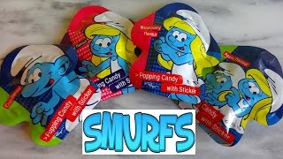 The Smurfs Candy & Sticker Surprise Packs Unpacking Sorpresa