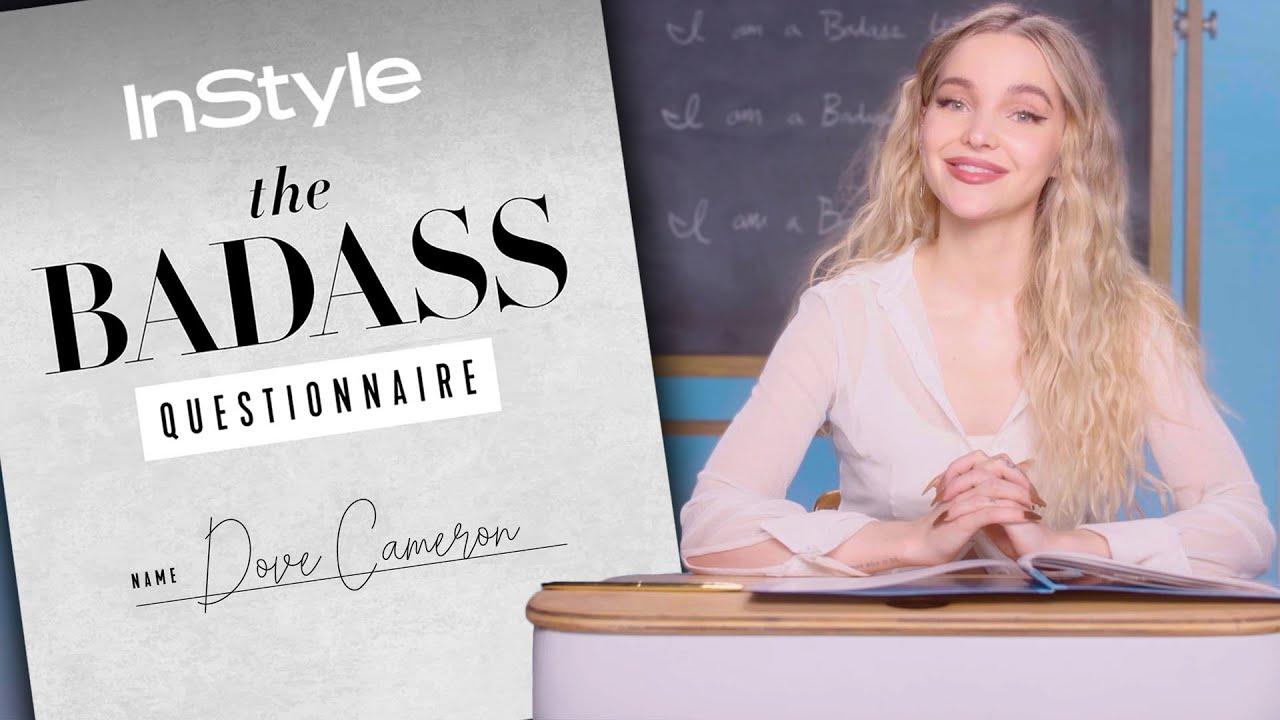 Download Dove Cameron Pole Dances To Janelle Monáe Tunes | Badass Questionnaire | InStyle