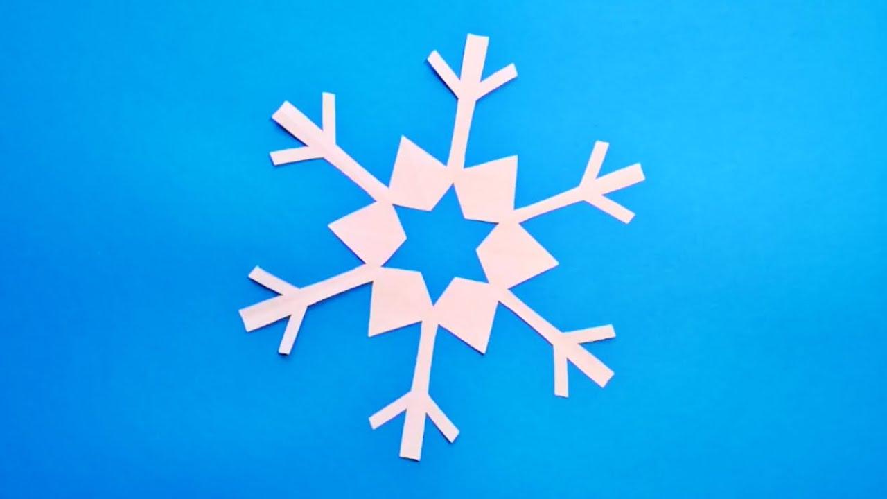 dubbele ster eenvoudig papieren sneeuwvlokje