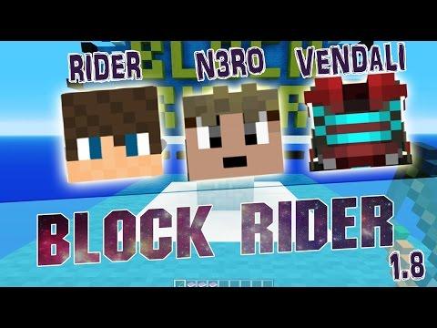 BLOCK RIDER - 1.8 MINECRAFT MAP! - Mapa přímo pro Ridera! :D