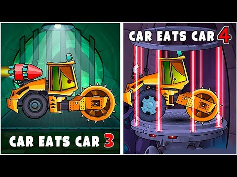 Каким Будет Тачка КАТОК в Машина Ест Машину 4 - играем против босса во всех частях Car Eats Car