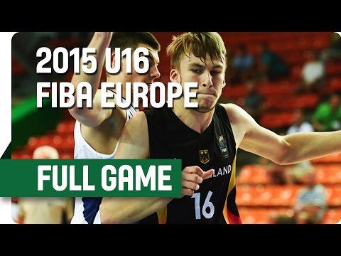 Bosnia and Herzegovina v Germany - Quarter Final - Full Game - 2015 U16 European Championship Men