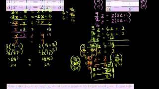Линейные уравнения с переменными с обеих сторон (часть 2)