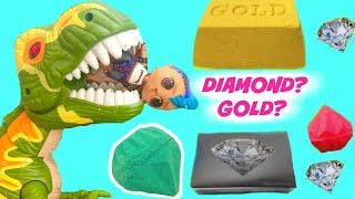 LOL Surprise Doll Punk Boi Looks for Gold Digs Its at Jurrasic Dinosaur Park