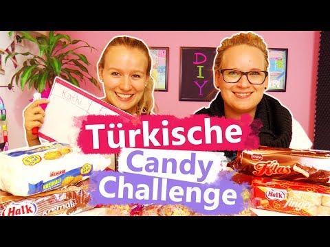 Türkische Candy Challenge DIY Inspiration   Eva & Kathi testen internationale Süßigkeiten aus Türkei