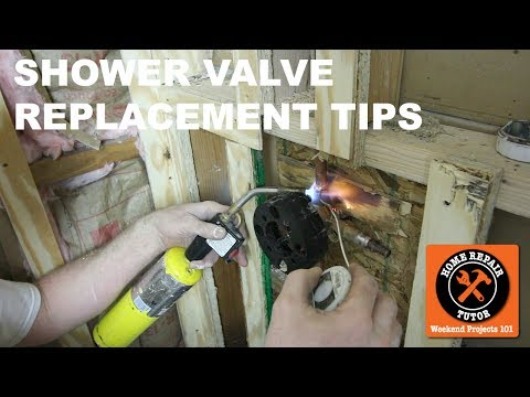 Shower Valve Replacement With An American Standard Valve  (Step-by-Step)