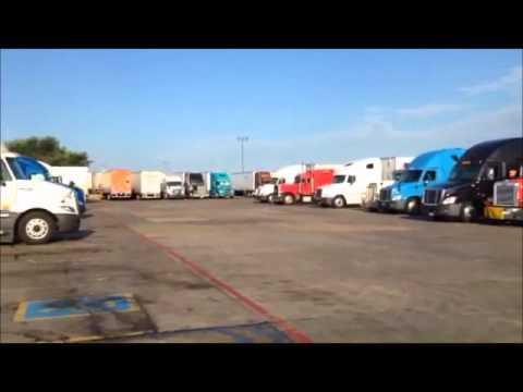 Truck Stop in Texas - Idling