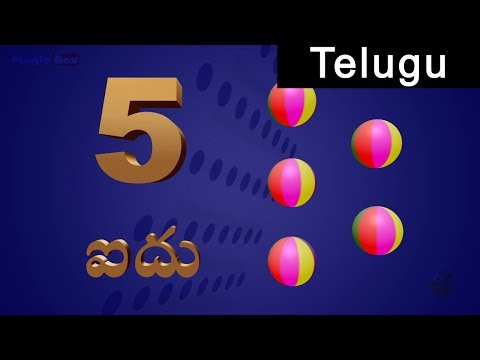Numbers  Pre School In Telugu  Animated s For Kids
