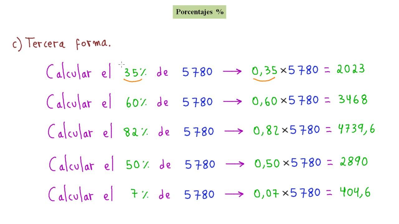 C mo calcular porcentajes r pida y f cilmente youtube - Como se pone el parquet ...