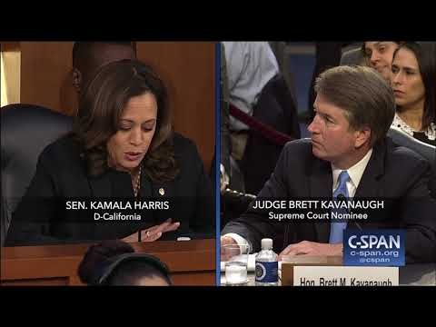 Sen. Harris questions Judge Kavanaugh again on Mueller Investigation (C-SPAN)