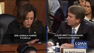Sen. Harris questions Judge Kavanaugh again on Mueller Investigation (C-SPAN)