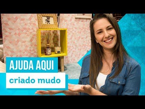 Criado-mudo com nicho quadrado - DIY com Karla Amadori - CASA DE VERDADE