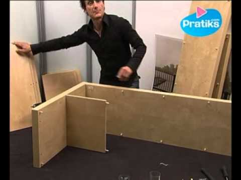 comment assembler la biblioth que expedit d 39 ikea 2 4 youtube. Black Bedroom Furniture Sets. Home Design Ideas