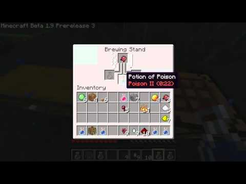 Minecraft 19 Prerelease Tutorial How To Make Potions Brewing Stand YouTube