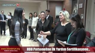 HBB Personeline İlk Yardım Sertifikası...