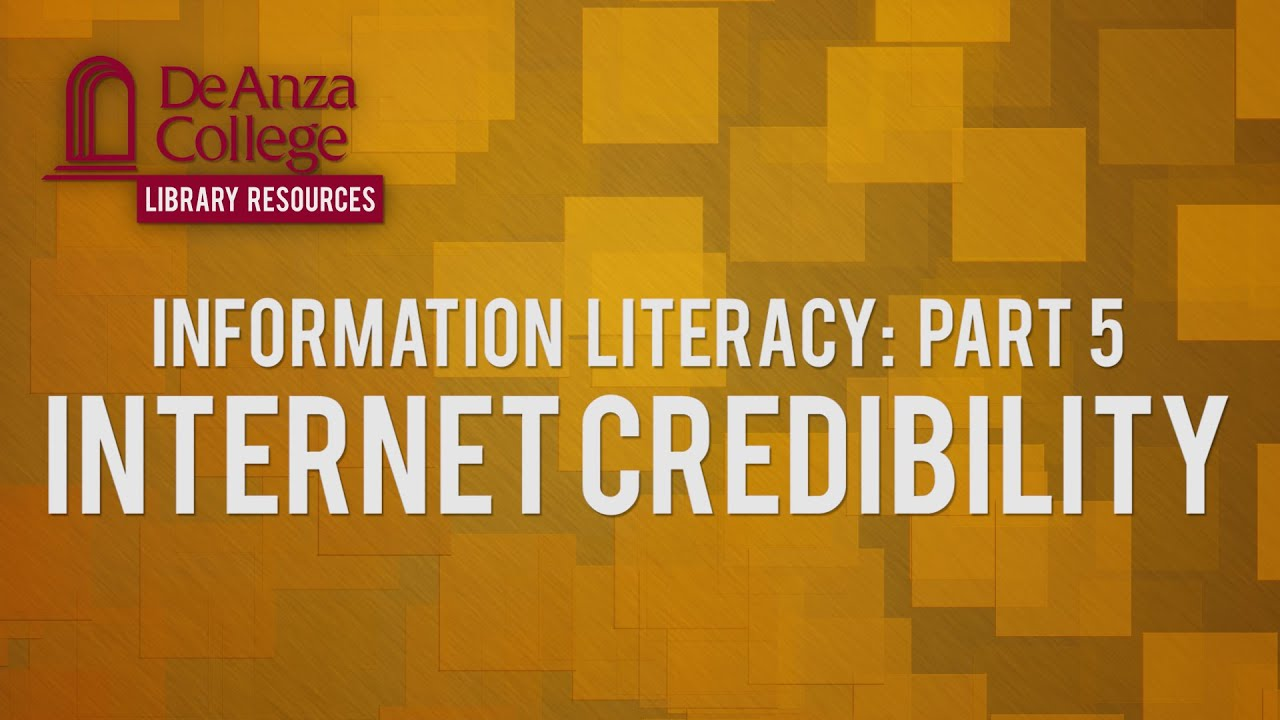 credibility of information from internet There are six ways you can tell if your website is credible  author – information  on the internet with a listed author is one indication of a.