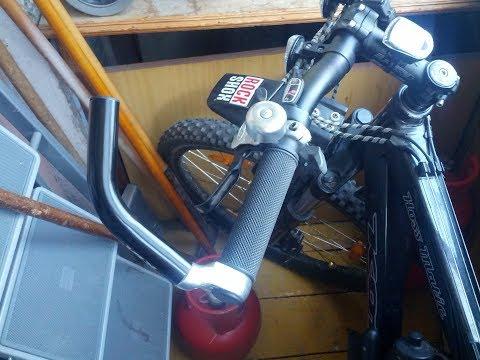 Установка грипс и рогов на руль велосипеда