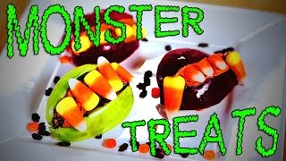 Candy Corn Monster Mouths For Halloween | Just Add Sugar
