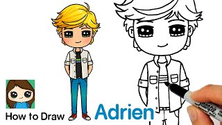 How to Draw Adrien Agreste | Miraculous Ladybug