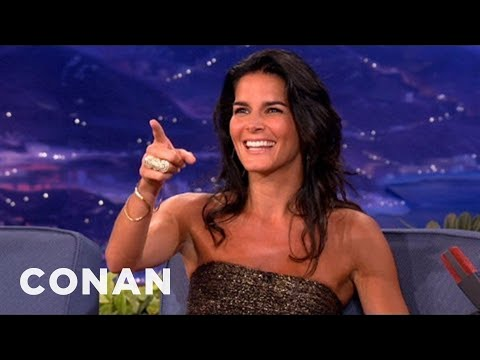 Angie Harmon Researches The Ways Of Real Men  CONAN on TBS