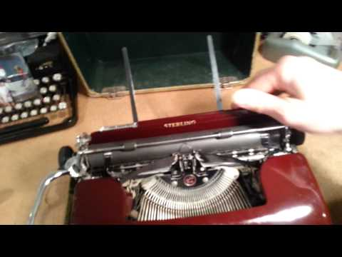 1938 Corona Sterling portable typewriter