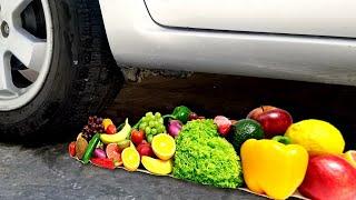 Crushing Crunchy & Soft things By Car-! CAR VS FRUIT