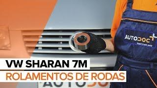 Como substituir rolamentos de rodas dianteiros no VW SHARAN 7M [TUTORIAL]