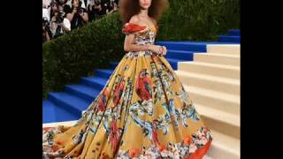 The Mane Attraction! Zendaya Lets Her Hair Down  At The Met Gala 2017.