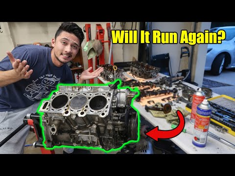 Fully Inspecting A Camry Engine With 260,000+ Kms - Will It Run Again?