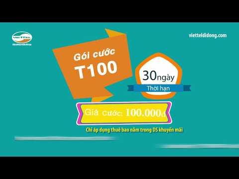 Cách đăng Ký Gói Cước T100 Viettel   Có Ngay 500p Nội Mạng + 50p Ngoại Mạng Mỗi Tháng