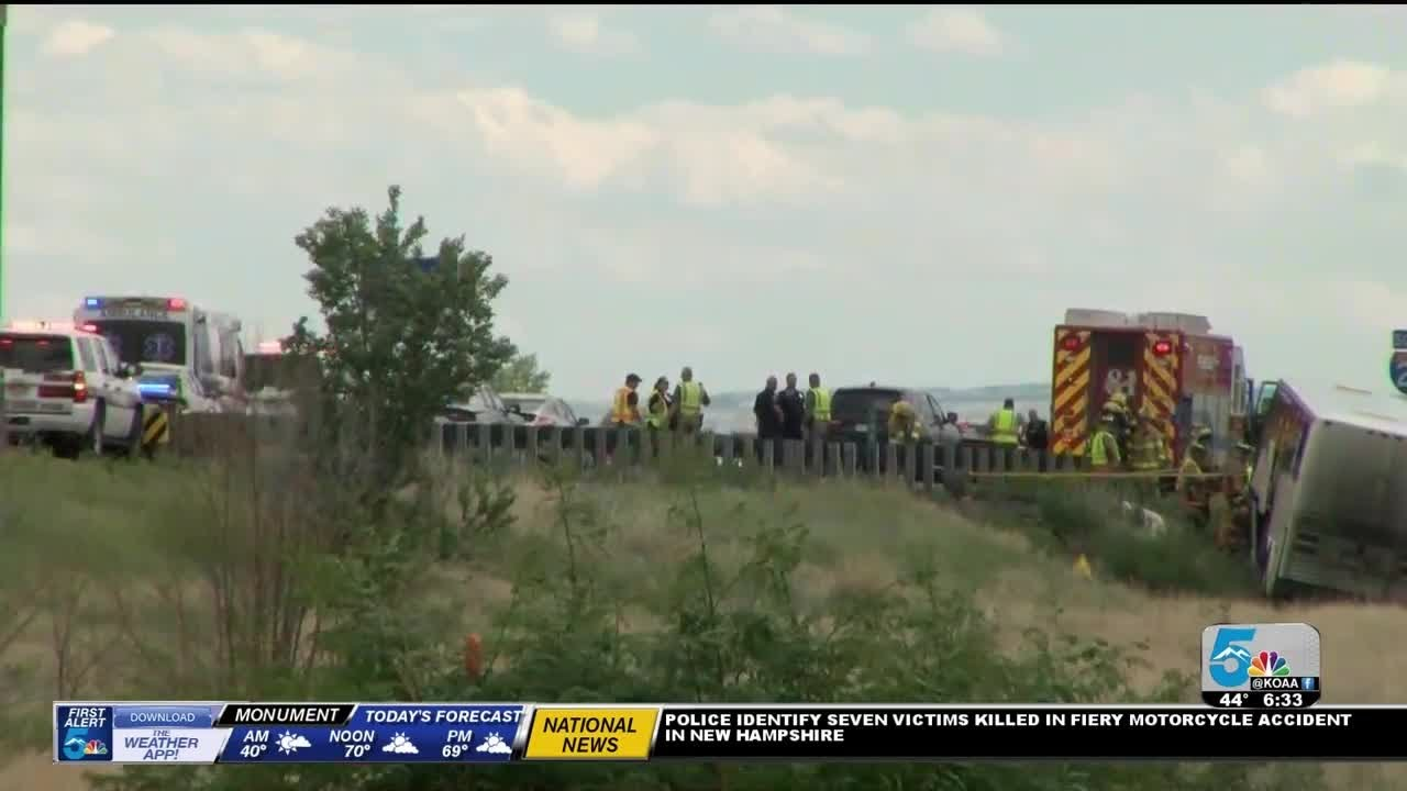 More than a dozen bus passengers injured in charter bus crash