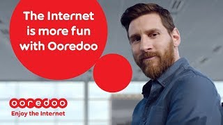 Leo Messi enjoys the Internet with Ooredoo