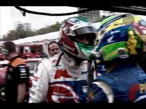 V8 Supercars - Ambrose brake tests Kelly - Bright/Kelly crash - Gold Coast 2004