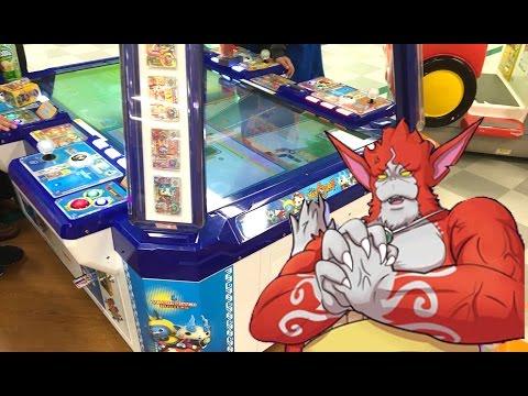 【鉄鬼軍1弾】3人でレッドJ撃破!!アーケードゲーム「妖怪ウォッチバスターズ」 Yo-kai Watch