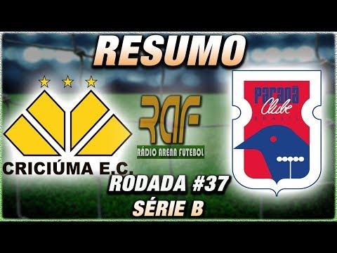 CriciúmaSC x ParanáClube Ao Vivo l Campeonato Brasileiro Série B l 37ª Rodada