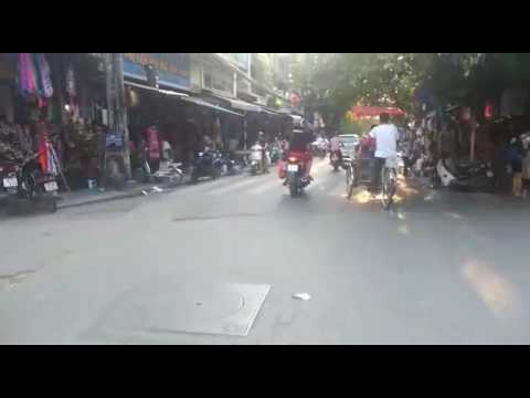 Riding Motorcycles in Downtown Hanoi, Vietnam