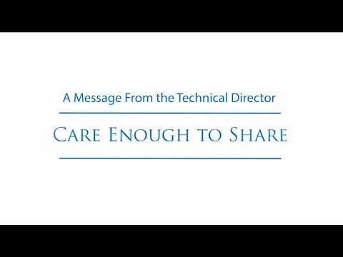 NSWC Crane - Message from the Technical Director - Care Enough to Share