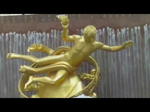 Statue Of Prometheus - Bringer of Fire - Rockefeller Center NYC - Summer Time Views