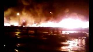شب حريق مهول بسوق الصالحين بمدينة سلا 22/02/2013