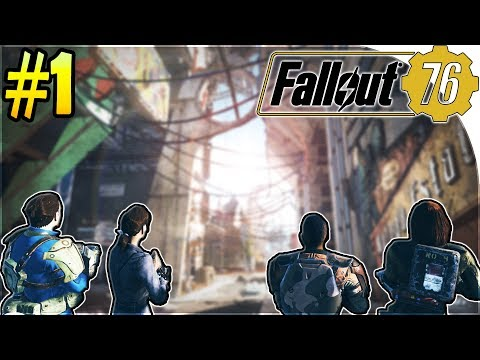 FALLOUT 76 GAMEPLAY PART 1 - Vault 76 , Multiplayer Base , Chasing THE MOTHMAN ...