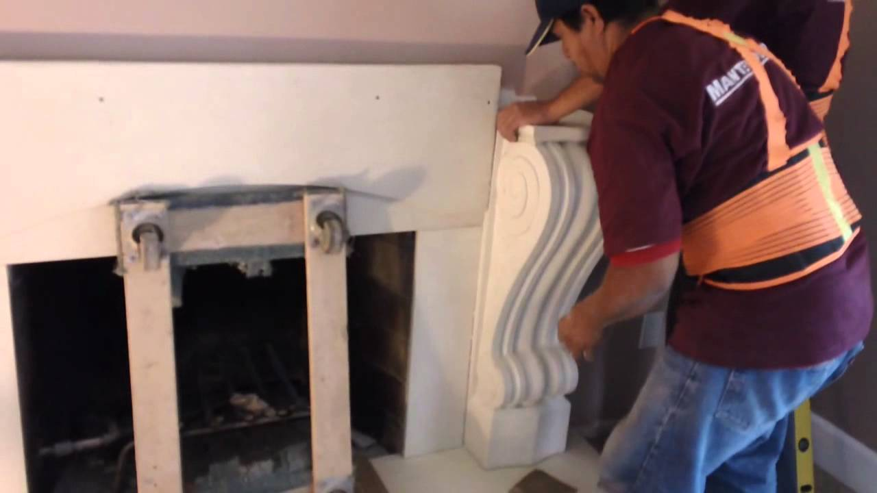 how to install a fireplace mantel youtube rh youtube com how to install a fireplace mantel on brick how to install a fireplace mantel shelf