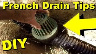French Drain Tips, Yard Drain, Pipe Connections, Save Time and Money