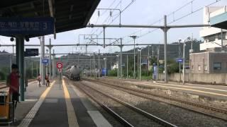 신탄진역 고속 통과하는 상행 화물열차