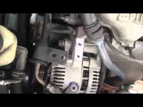 How to remove an alternator from a 1999 ford escort  YouTube